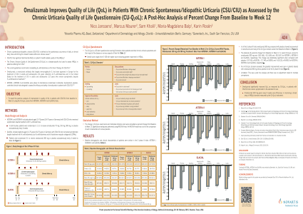 ePosters - Omalizumab Improves Quality of Life (QoL) in