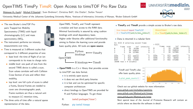 OpenTIMS TimsPy TimsR: Open Access to timsTOF Pro Raw Data