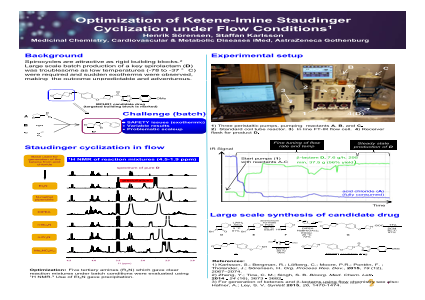 Optimization of Ketene-Imine Staudinger Cyclization under Flow Conditions