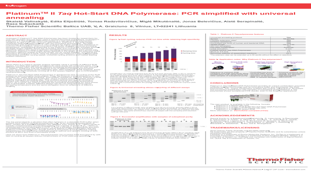 Platinum™ II Taq Hot-Start DNA Polymerase: PCR simplified with universal annealing