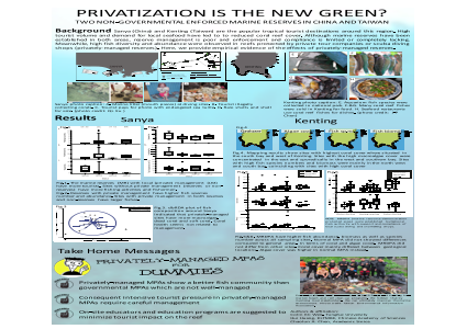 Privatization is the new green? Two non-governmental enforced marine reserves in China and Taiwan