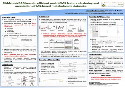 RAMclust/RAMsearch: efficient post-XCMS feature clustering and annotation of MS-based metabolomics datasets.