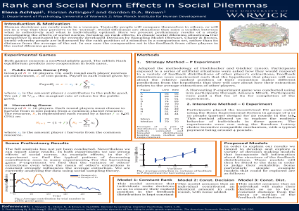 Rank and Social Norm Effects in Social Dilemmas