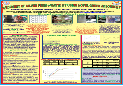 RECOVERY OF SILVER FROM e-WASTE BY USING NOVEL GREEN ADSORBENT
