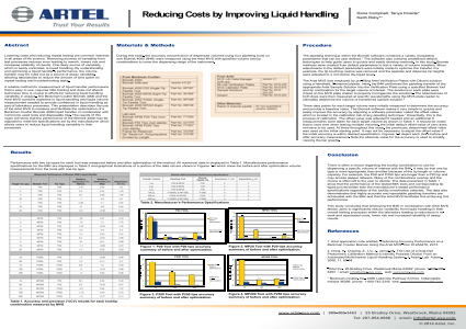 Reducing Costs by Improving Liquid Handling