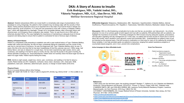 Resident: DKA: A Story of Access to Insulin
