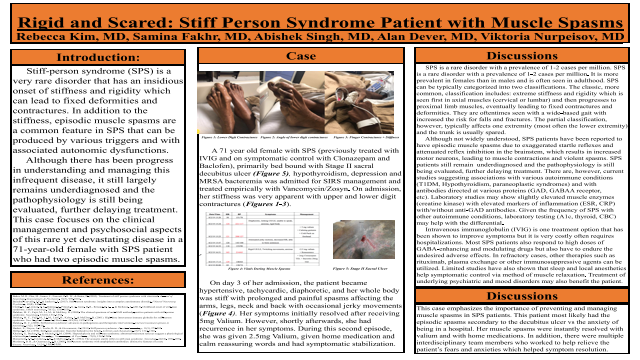 Resident: Rigid and Scared: Stiff Person Syndrome Patient with Muscle Spasms