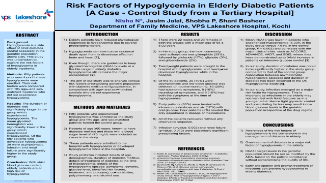 Risk Factors of Hypoglycemia in Elderly Diabetic Patients [A Case - Control Study from a Tertiary Hospital]