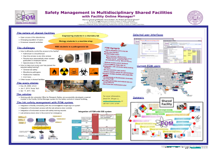 Safety Management in Multidisciplinary Shared Facilities with Facility Online Manager (R)
