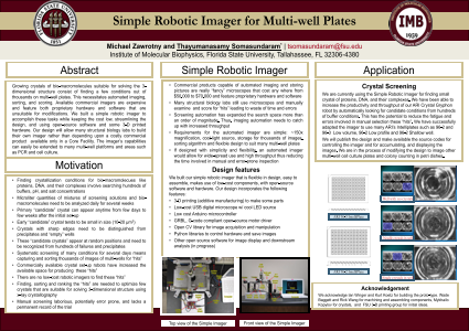 Simple Robotic Imager for Multi-well Plates