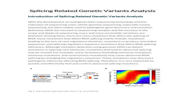 Splicing Related Genetic Variants Analysis