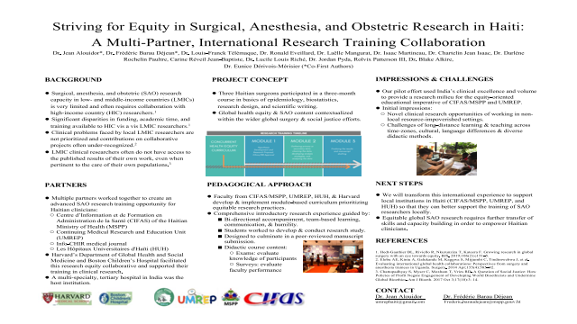 ePosters - Striving for Equity in Surgical, Anesthesia, and