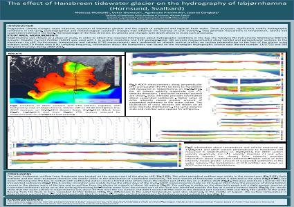 The effect of Hansbreen tidewater glacier on the hydrography of Isbjørnhamna (Hornsund, Svalbard)