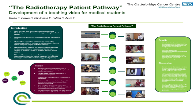 """The Radiotherapy Patient Pathway''   Development of a teaching video for medical students"