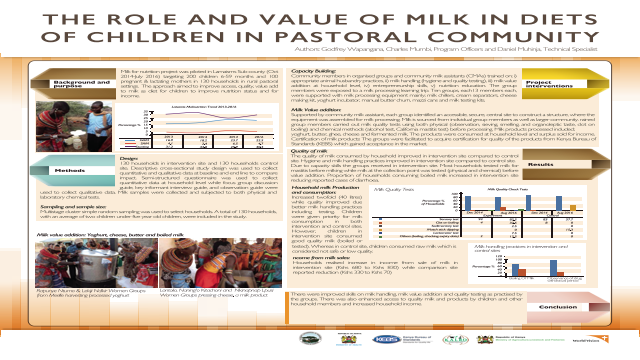 The Role and Value of Milk in Diets of Children in Pastoral Community