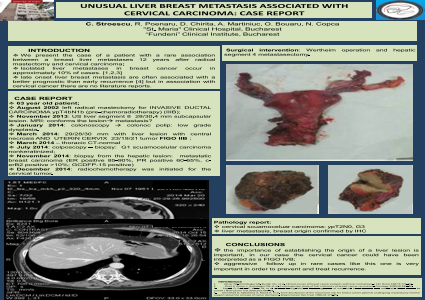 UNUSUAL LIVER BREAST METASTASIS ASSOCIATED WITH CERVICAL CARCINOMA: CASE REPORT