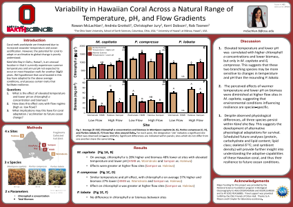 Variability in Hawaiian Coral Across a Natural Range of Temperature, pH, and Flow Gradients