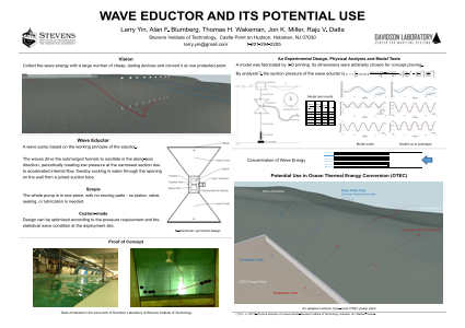 Wave Eductor and Its Potential Use